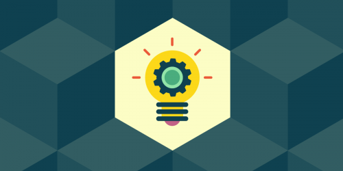 Creativity and Innovation issue banner, a colorful graphical representation of a light bulb
