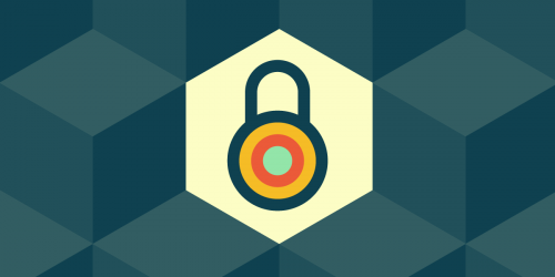 lock icon on hexagonal background