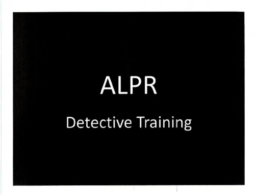 Automated License Plate Readers (ALPR) | Electronic Frontier