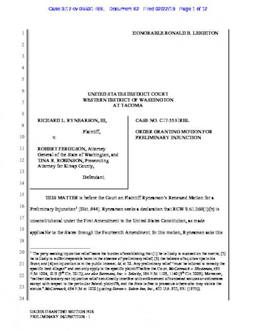 Washington State Cyberstalking Law | Electronic Frontier