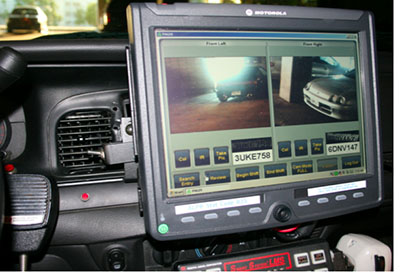 ALPR Monitor Inside Police Car