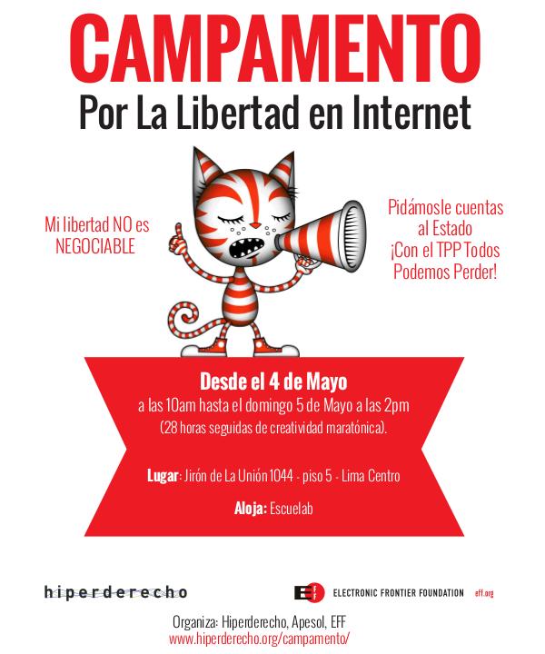 Hoy campamento por la libertad de Internet