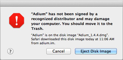 OS X Mountain Lion scares users away from Adium