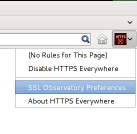 Screenshot of HTTPS Everywhere Firefox toolbar button