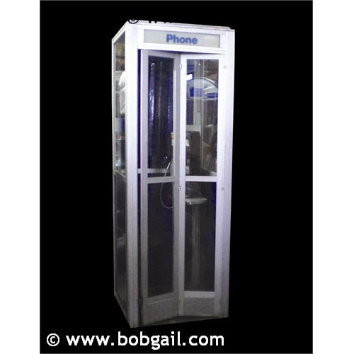 We're actually renting this phone booth.